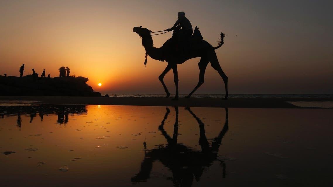 Sunset on Gaza's beach