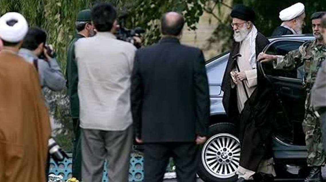 Khamenei getting out of a BMW Photo: ISNA