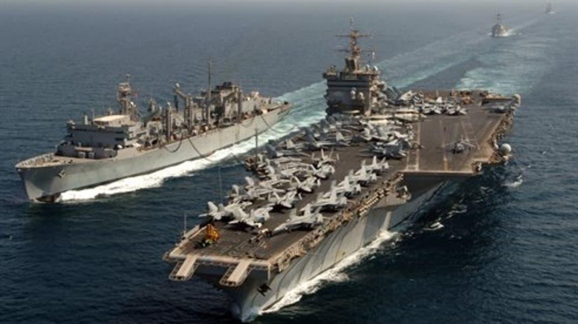 مناورات بحرية أمريكية في الخليج العربي