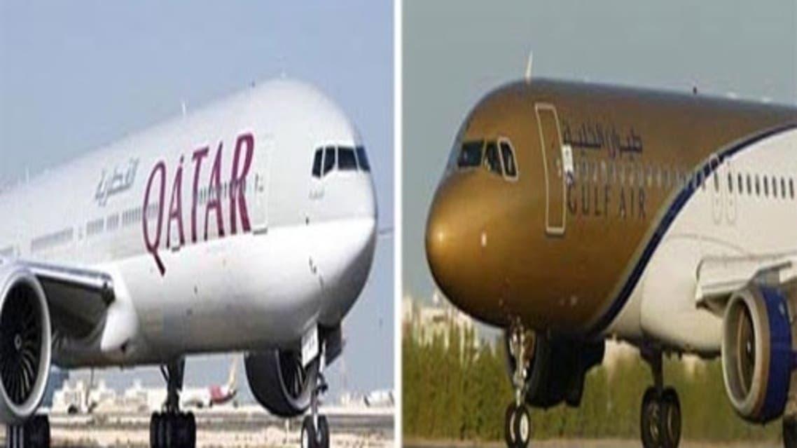 طيران الخليج + القطرية