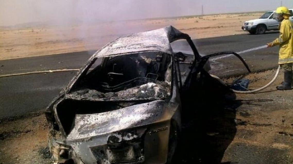 حادث تصادم في طريق الرياض - بقيق