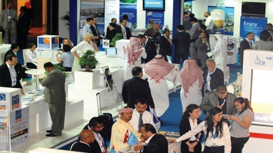 جانب من الجناح السعودي في سوق السفر العربي