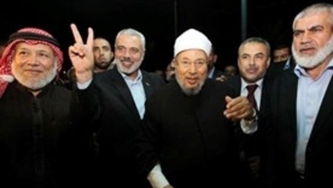 یوسف القرضاوی دورہ غزہ