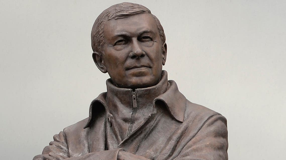 A statue of Manchester United's coach Alex Ferguson is seen outside the club's Old Trafford stadium in Manchester, northern England May 8, 2013. (Reuters)