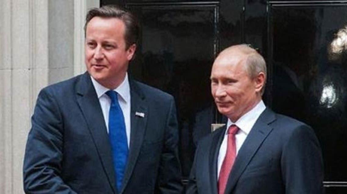 ديفيد كاميرون وفلاديمير بوتين
