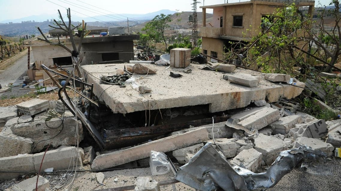 A picture released by the Syrian Arab News Agency (SANA) on May 5 allegedly shows damage caused by an Israeli air strike, according to SANA. (AFP PHOTO/SANA/HO)