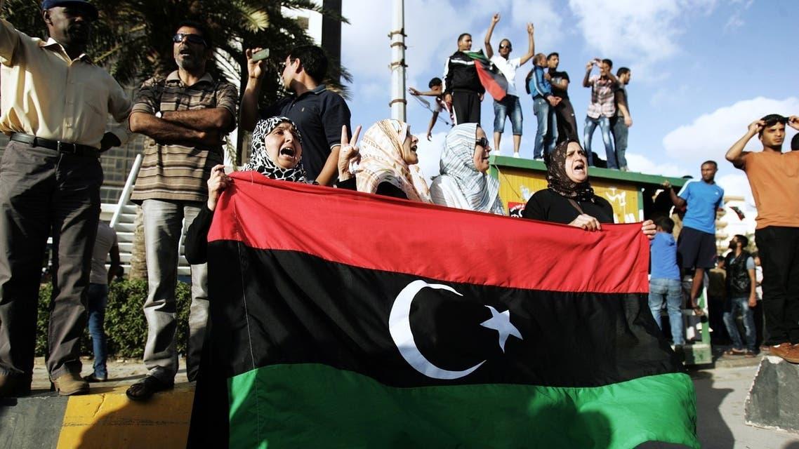 متظاهرون في بنغازي يطالبون الحكومة بضبط الأمن