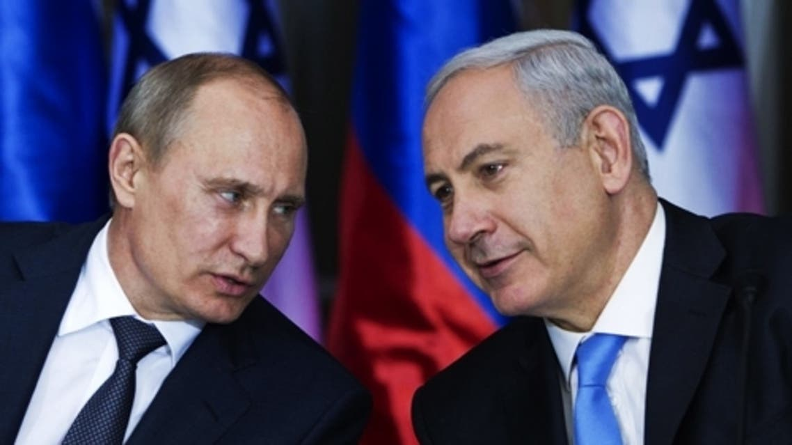 Prime Minister Benjamin Netanyahu holds a joint press conference with Russian President Vladimir Putin at Netanyahu's residence in Jerusalem on June 25, 2012. (Courtesy: worldjewishdaily.com)