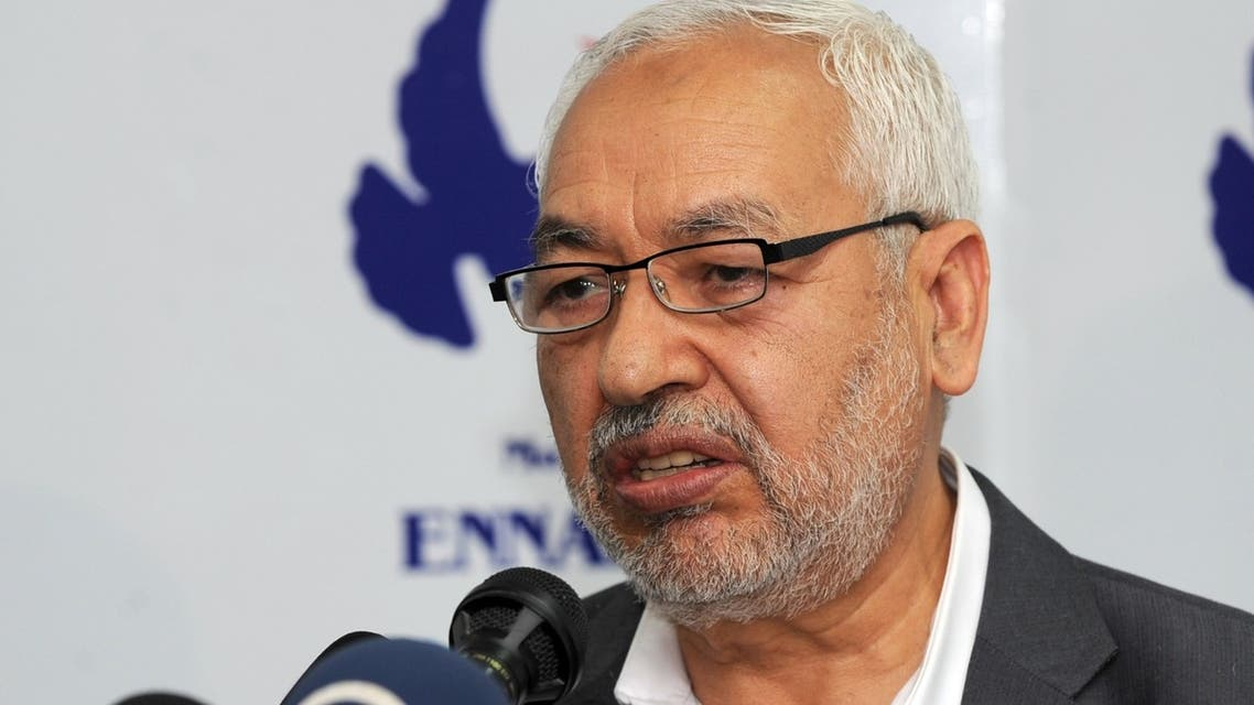 Tunisian Ennahda Islamist party's leader, Rached Ghannouchi speaks during a press conference on May 15, 2013 in Tunis. (AFP)