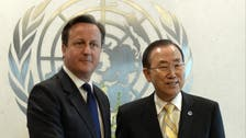 Video: Cameron calls for peace talks pressure on Syrian rivals
