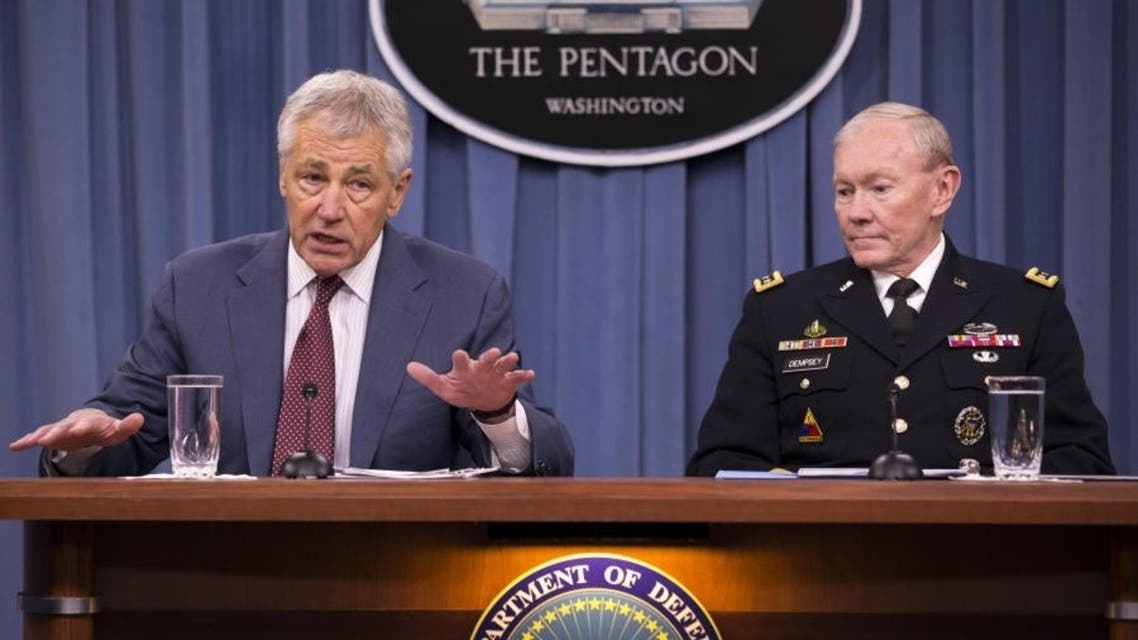 Secretary of Defense Chuck Hagel speaks to the media during a briefing at the Pentagon, May 17, 2013 in Arlington, Virginia. (AFP)