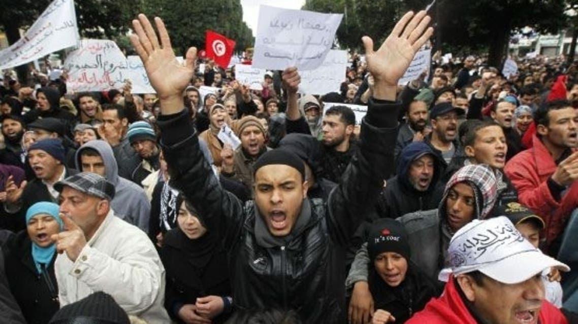 مظاهرات أنصار الشريعة في تونس