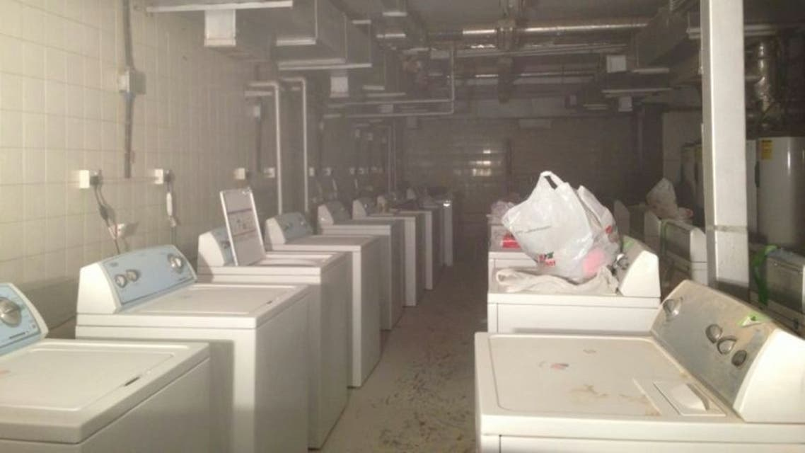 صورة من الحريق داخل مستشفى الملك خالد في حائل