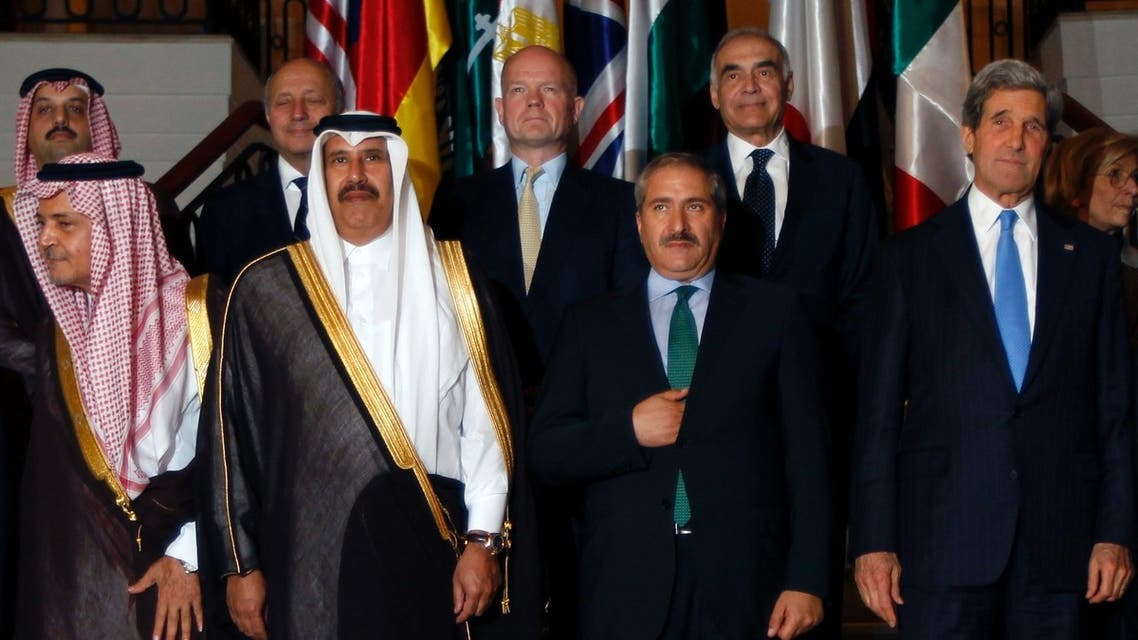 Diplomats pose after their Friends of Syria alliance meeting in Amman, May 22, 2013. (REUTERS)