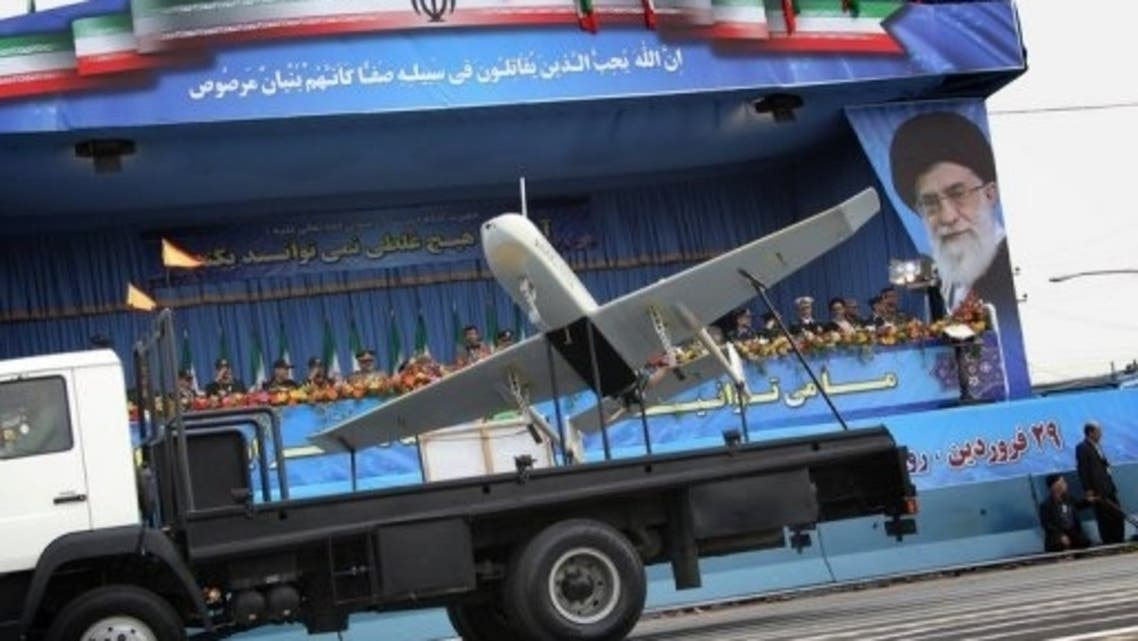 An Iranian-made drone is paraded during the Army Day celebrations in Tehran on April 18, 2010. (File Photo: AFP)