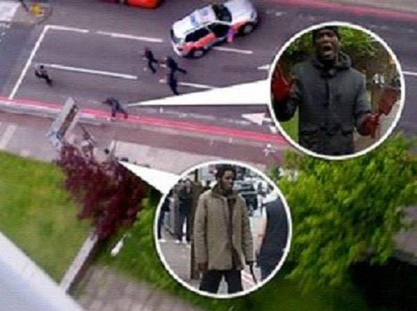 أول فيديو للسيطرة بالرصاص على قاتلي الجندي في لندن