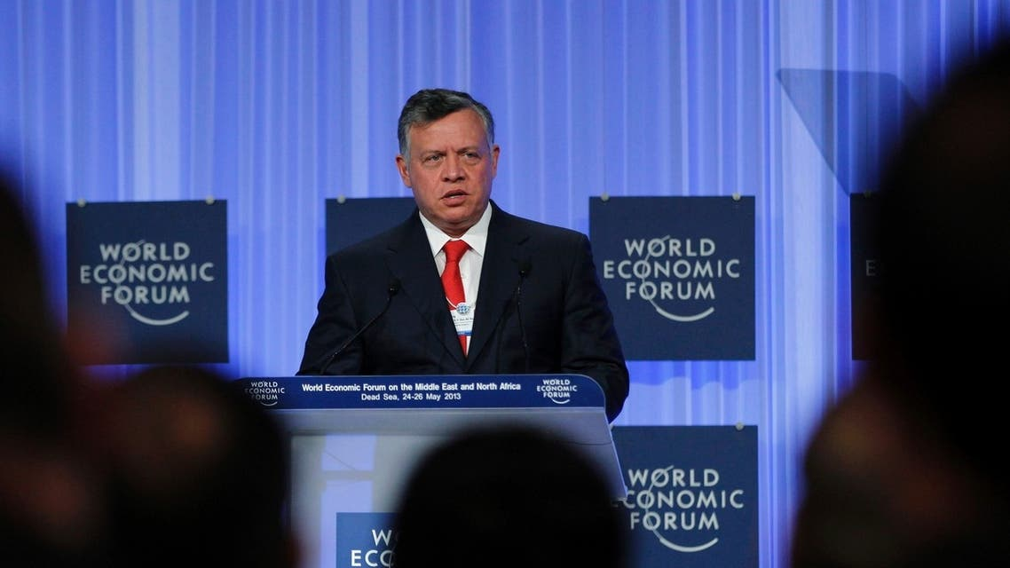 Jordan's King Abdullah speaks at the opening ceremony of the World Economic Forum on the Middle East and North Africa 2013. (Reuters)