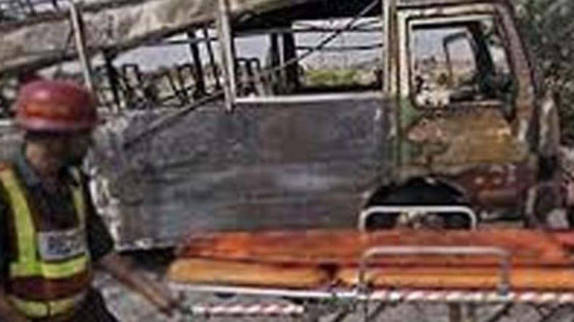 pakistan>school van blast