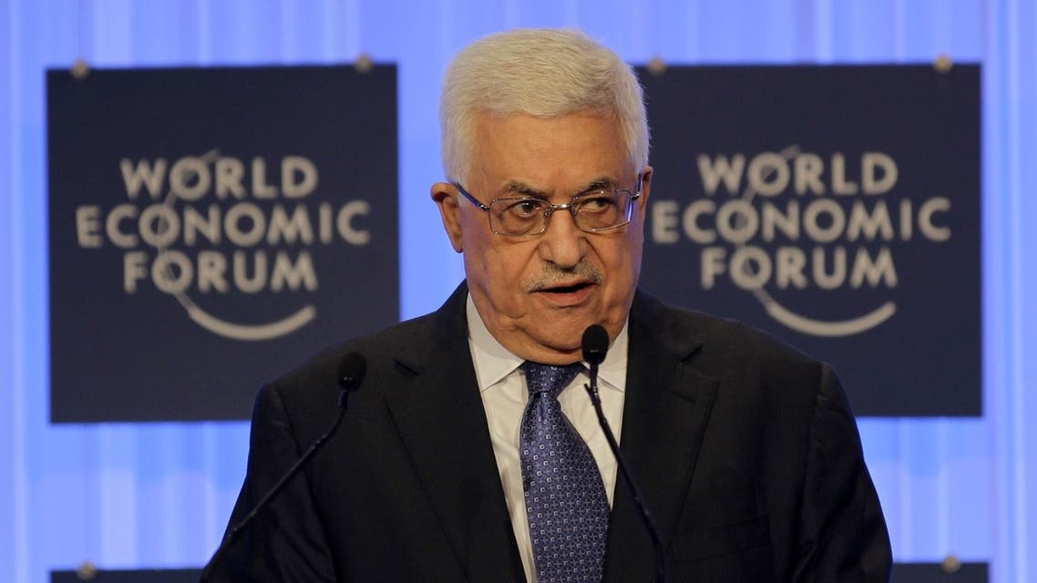 Palestinian president Mahmud Abbas speaks during the opening session of the World Economic Forum on the Middle East and North Africa. (AFP)