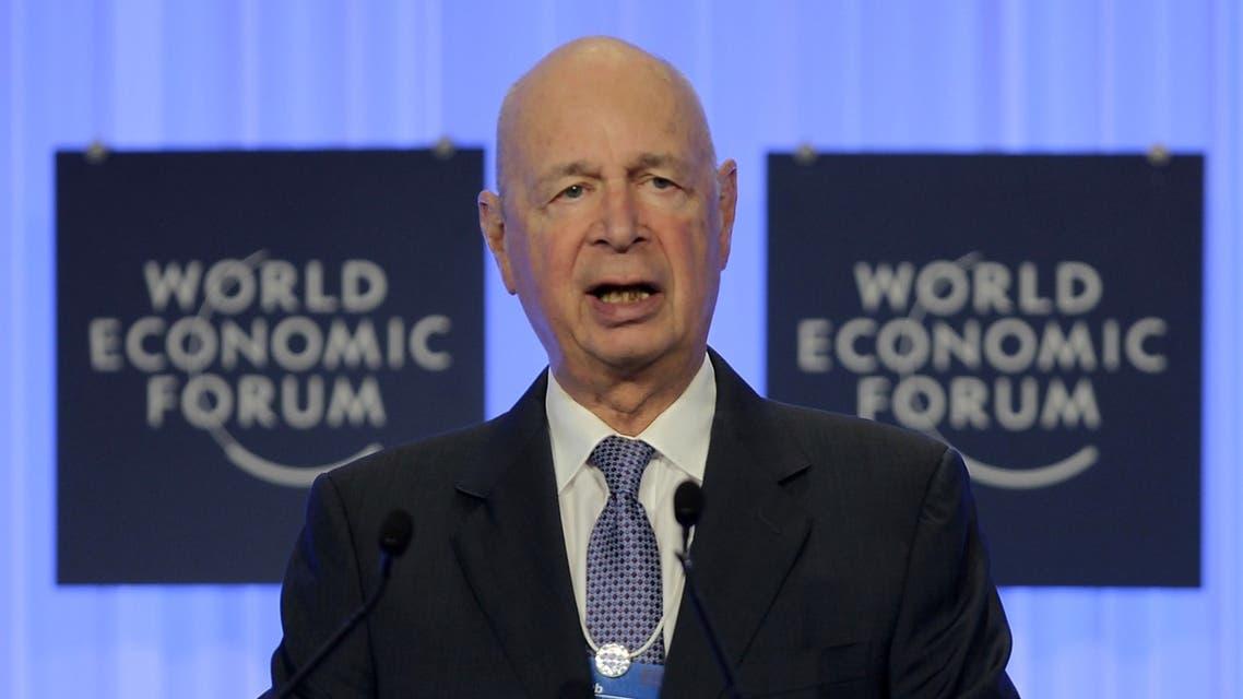 World Economic Forum founder Klaus Schwab at the opening of the World Economic Forum on the Middle East and North Africa in Jordan. (AFP)