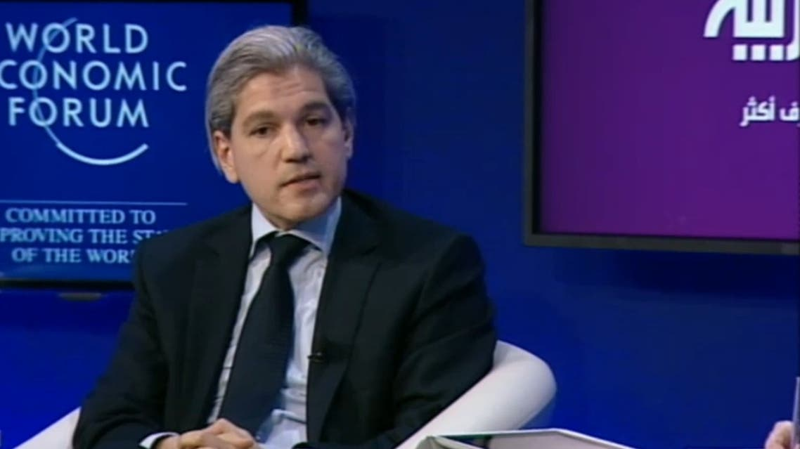 Aldo Flores-Quiroga speaking at an Al Arabiya panel at the World Economic Forum in Jordan. (Photo courtesy: WEF)