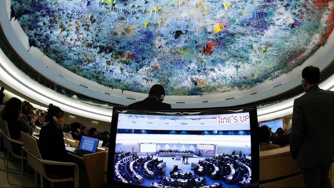 جانب من اجتماع مجلس حقوق الانسان
