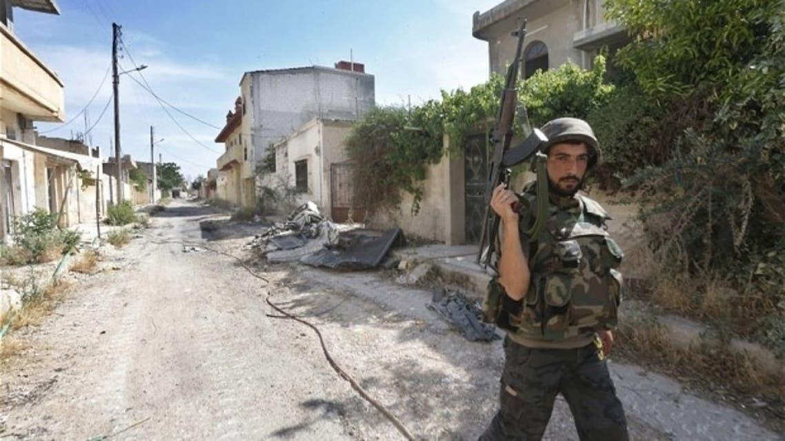 Syria soldier in Qusayr