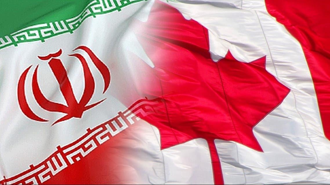 پرچم کانادا و ایران