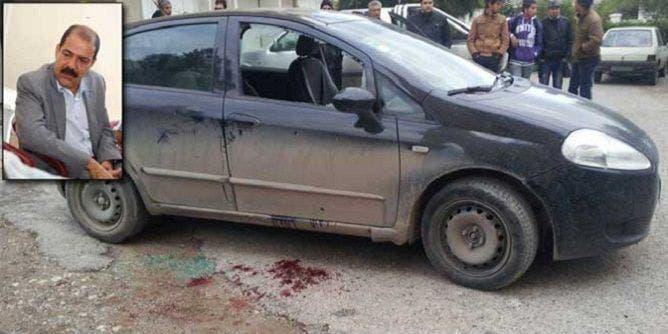 سيارة شكري بلعيد