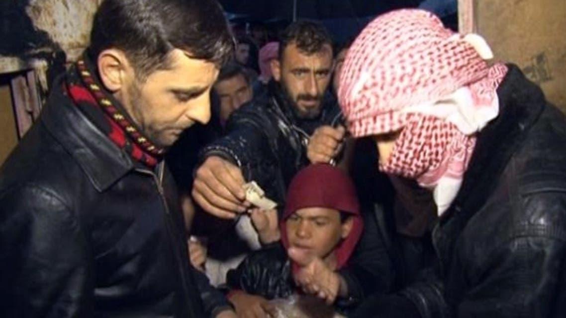 تهافت على رغيف الخبز في سوريا