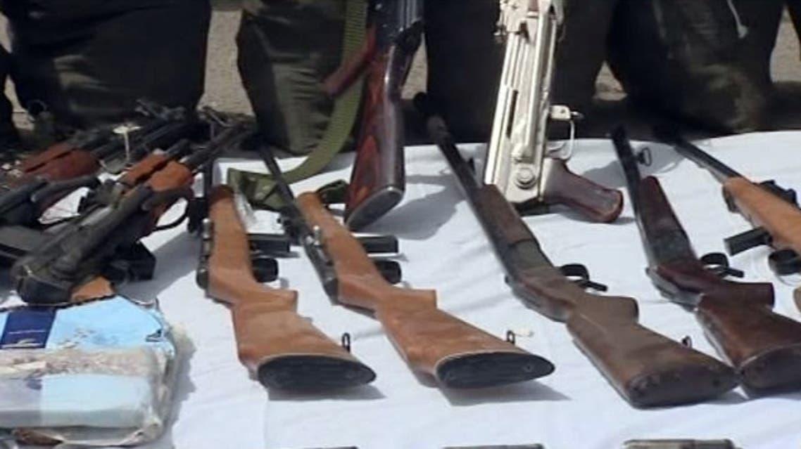 اسلحة ضبطها حرس الحدود السعودي مع مهربين على حدودج اليمن