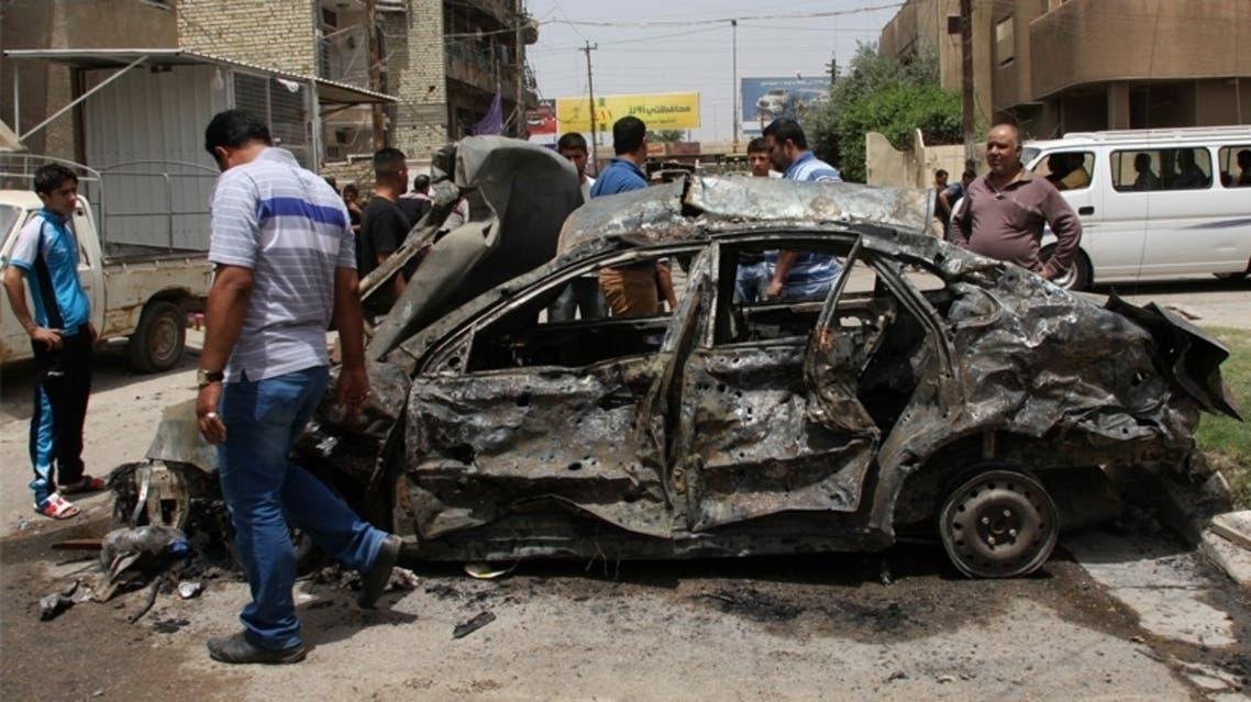 موقع تفجير سيارة مفخخة في بغداد