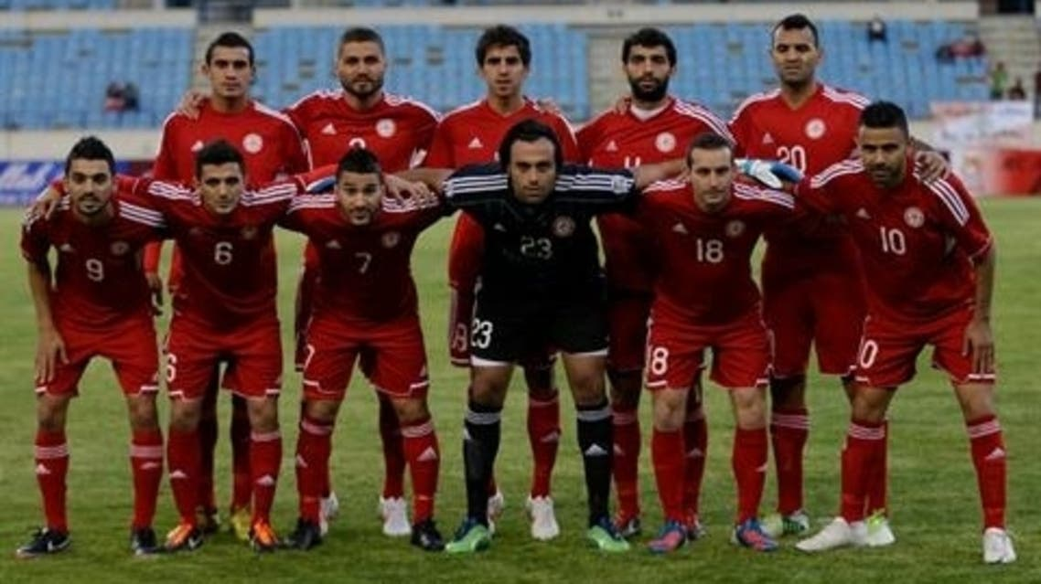 Lebanon's national team posie for a picture during the 2015 Asian Cup qualifier match against Thailand, in Beirut, Lebanon, Friday March 22, 2013. (AP Photo/Hussein Malla)  Read more: http://www.dailystar.com.lb/Sports/Football/2013/Mar-26/211523-lebanon-defeated-1-0-by-uzbekistan-in-world-cup-qualifier.ashx#ixzz2V3QqCCNW (The Daily Star :: Lebanon News :: http://www.dailystar.com.lb)