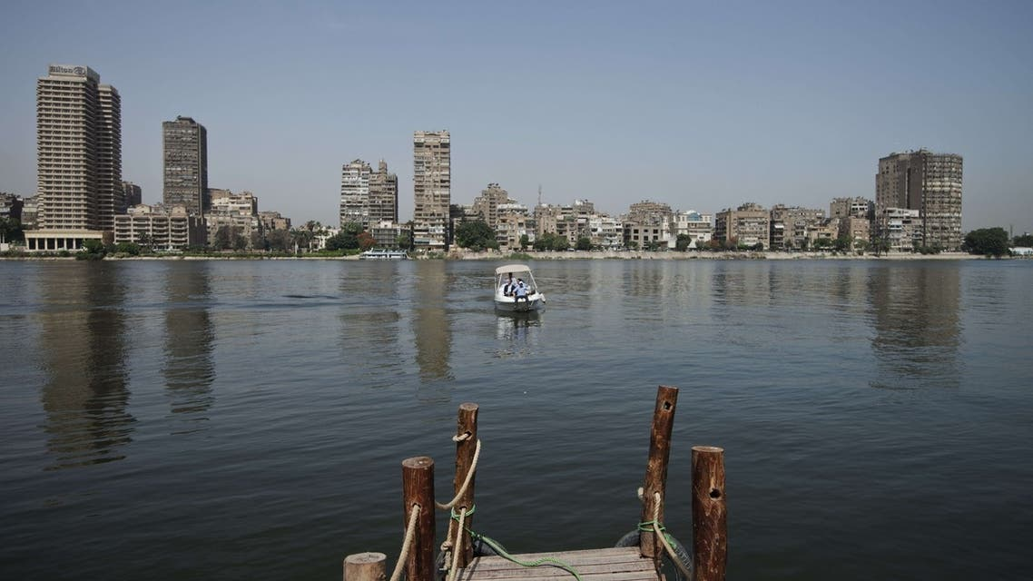 Taxi Nile boat rides through the waters of the Nile river on May 19, 2013 in Cairo. (AFP)