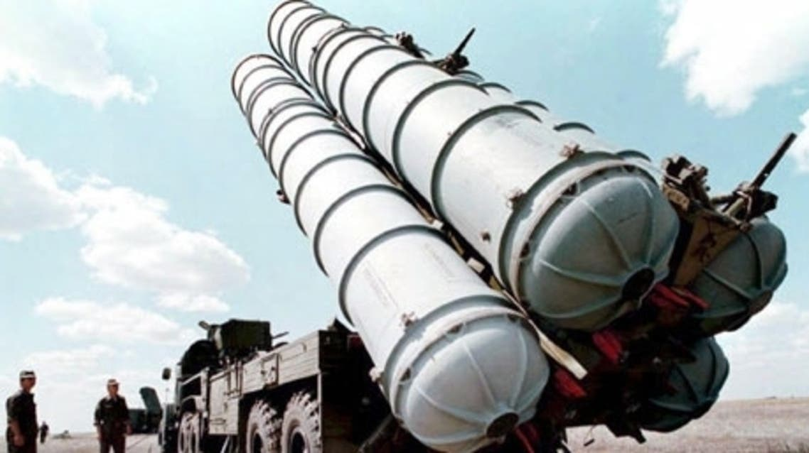 An S-300 missile of the kind being sent to Syria, pictured at a military training ground in Russia. (AFP)