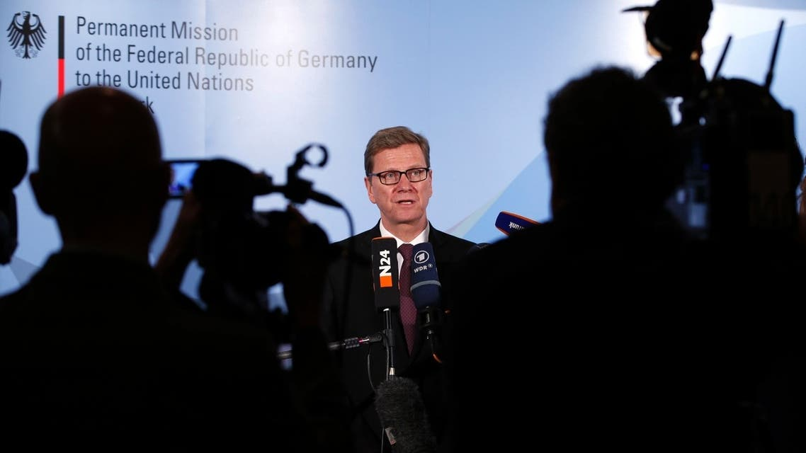 German Foreign Minister Guido Westerwelle speaks during a news conference in New York, June 3, 2013. Reuters