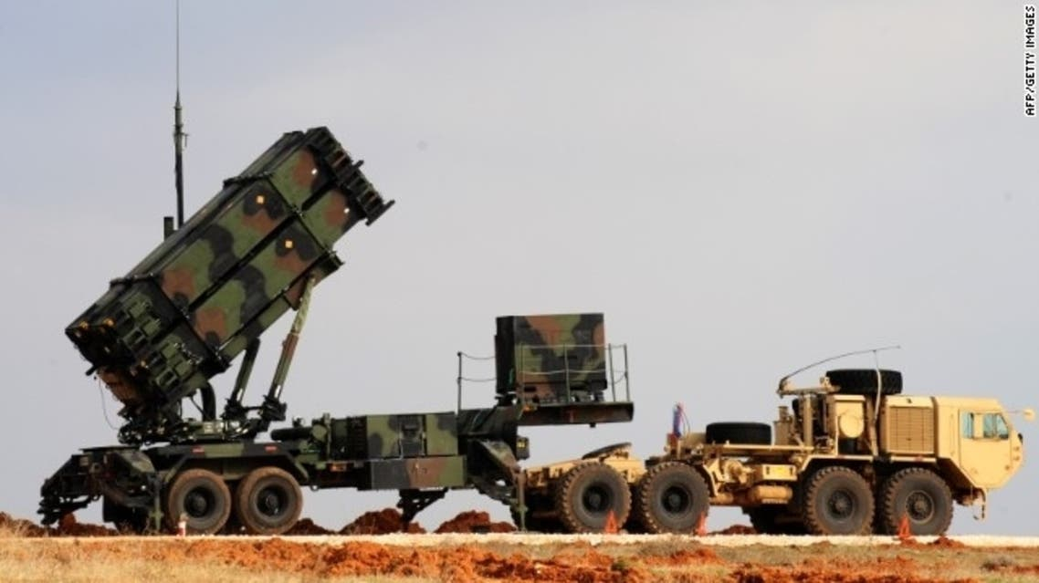 A Patriot missile launcher system is pictured at a Turkish military base in Gaziantep on February 5, 2013. (AFP)