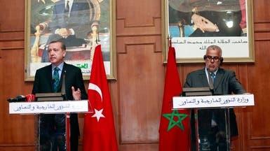 أردوغان من المغرب يحمل المعارضة تصادمات تركيا