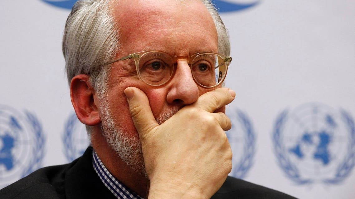 Paulo Pinheiro, chairperson of the International Commission of Inquiry on Syria for the United Nations Human Rights Council listens during a news conference on the presentation of their latest report at the U.N. In Geneva June 3, 2013. reuters