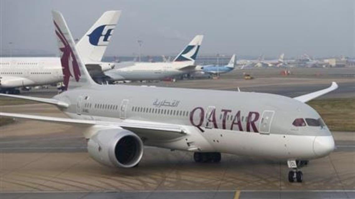 Qatar Airways new Boeing 787 Dreamliner taxis after arriving on it's inaugural flight to Heathrow Airport, west London December 13, 2012.
