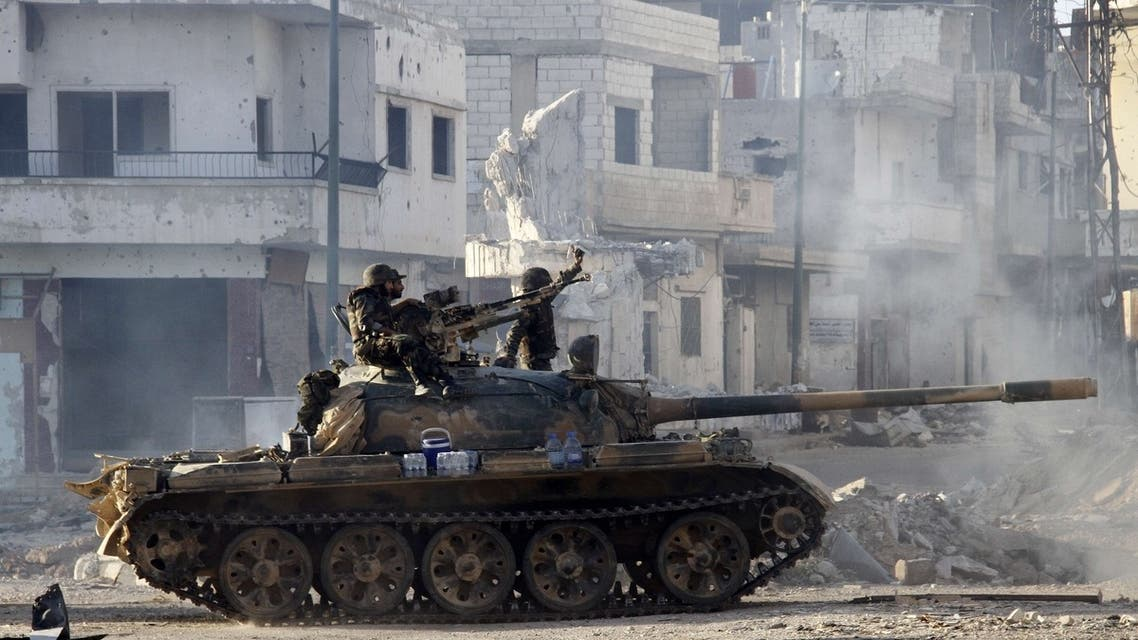 Syrian army in Qusayr