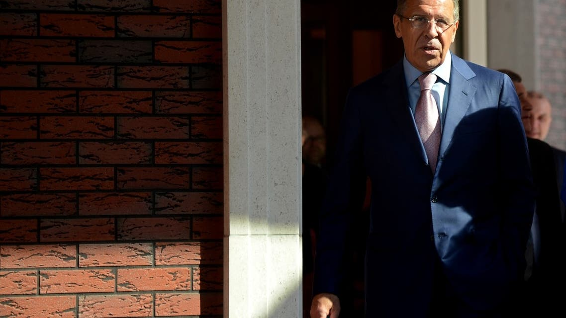 Russia's Foreign Minister Sergei Lavrov arrives for the Baltic Sea States summit in Kaliningrad on June 6, 2013. AFP