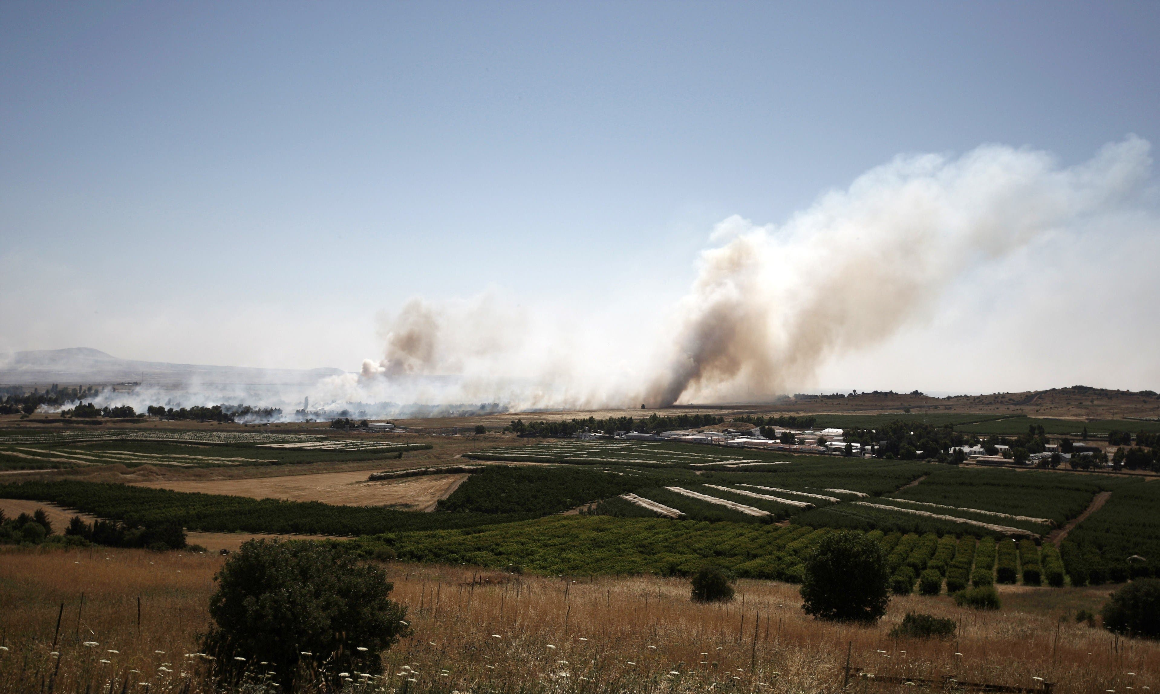 A picture taken on June 6, 2013 from the Israeli side along the Israel-Syria ceasefire line in the Golan Heights AFP
