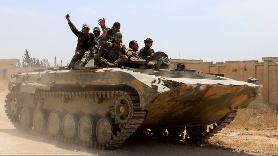 قوات من جيش النظام السوري تنتشر في قرية الضبعة قرب القصير