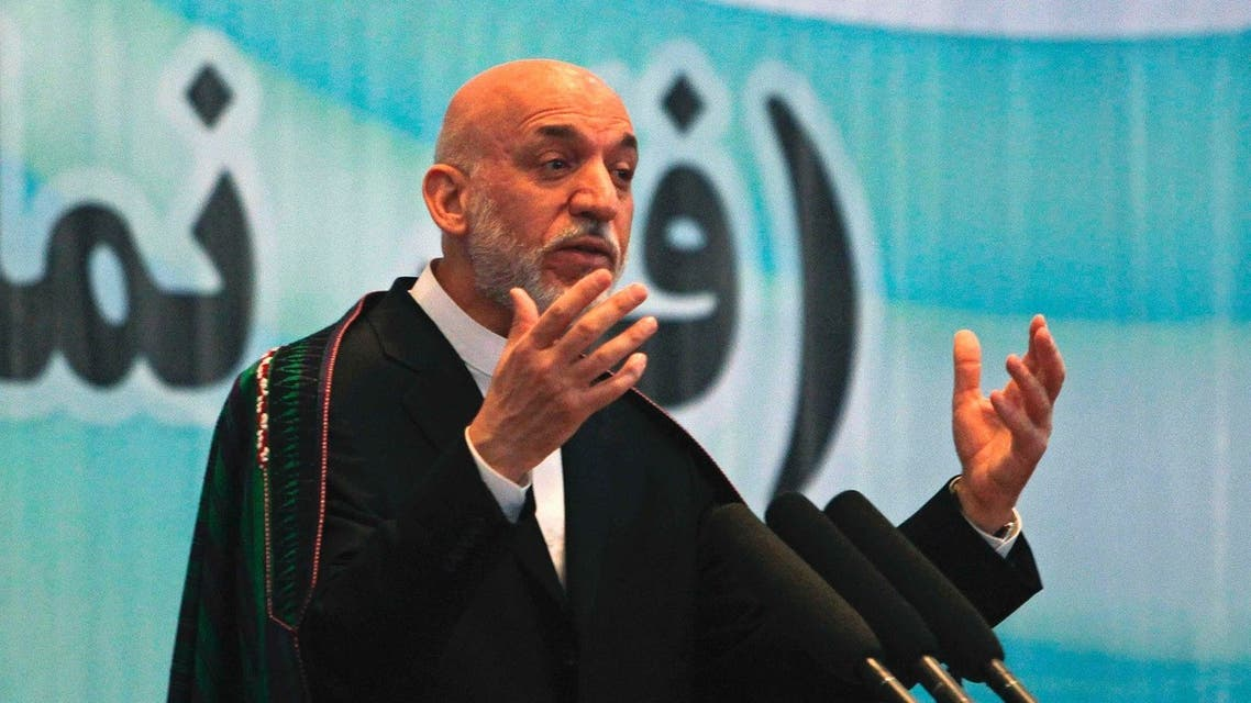 Afghanistan's President Hamid Karzai speaks during a celebration for World Environment Day in Kabul June 8, 2013. (Reuters)