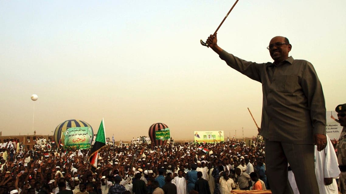 President Omar Hassan al-Bashir addresses a crowd in North Khartoum on June 8. Sudan's president ordered a stoppage of all South Sudan's oil exports from Sunday. (Reuters)