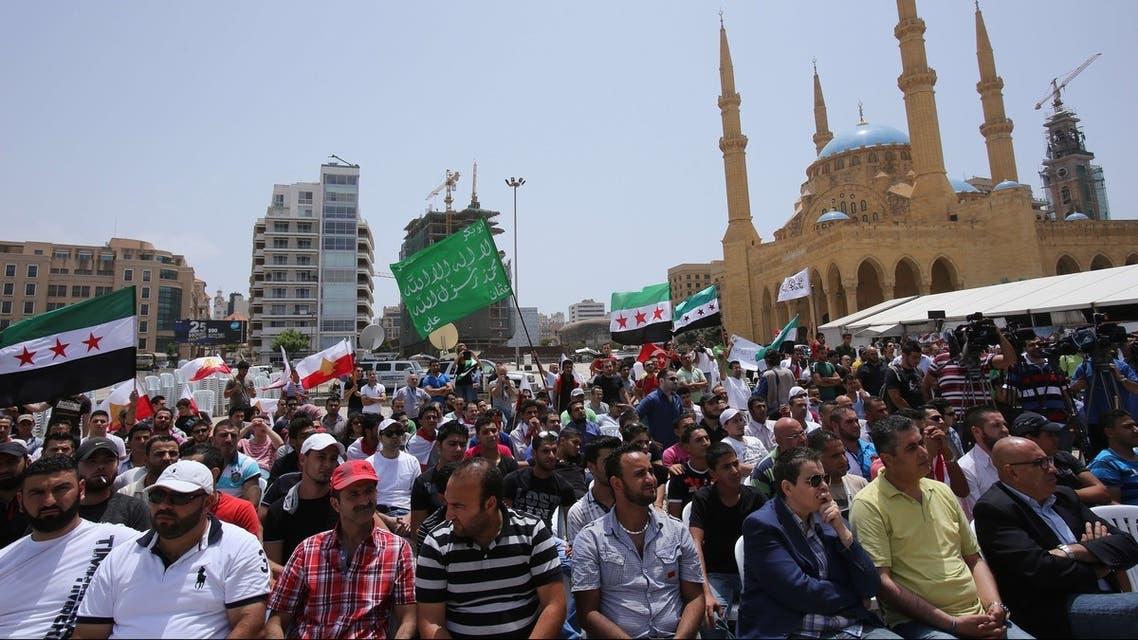 تظاهرات اللبنانيين ضد حزب الله