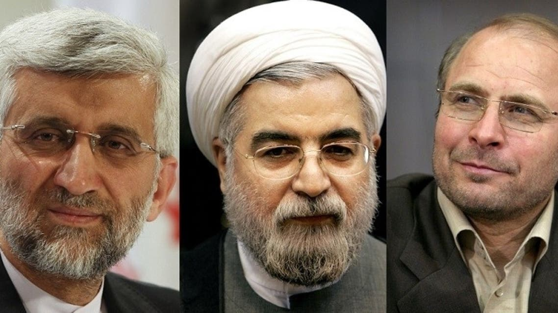 Three of the candidates for Iran's elections described as frontrunners: From left, Saeed Jalili, Hassan Rouhani and Mohammad Bagher Ghalibaf. (Photo courtesy: IB Times)