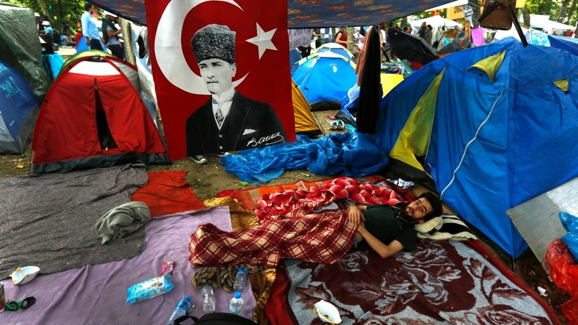 Camping out in Taksim Square