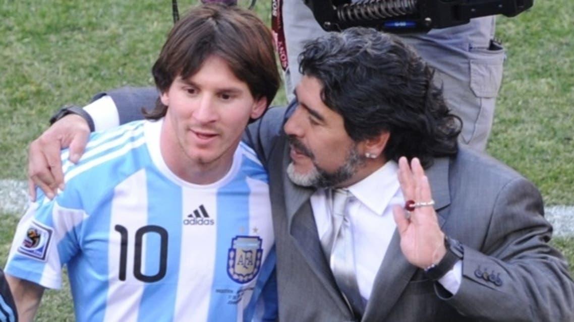 مارادونا مع ميسي